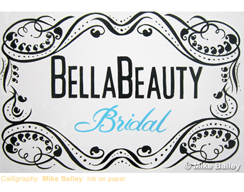 Bella Beauty Sign by Mike Bailey